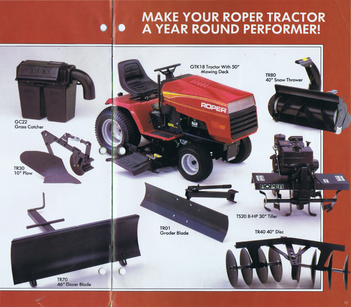 Roper Lawn Mower Manual Wiring Diagram For Topic Fitting A Plough To Garden Tractor Vintage Horticultural 1121x980