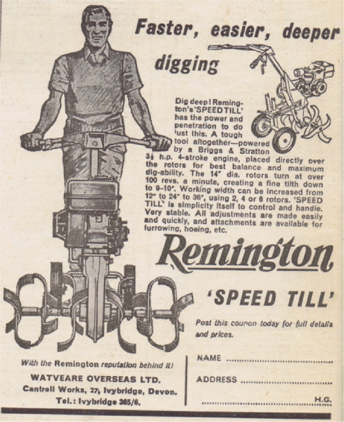 Remington Speed Till 1964 UK Advert