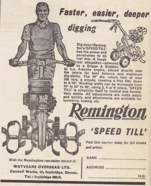 Remington Speed Till 1964 UK Advert