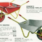 Ironcrete Wheelbarrows from the 1960's.
