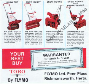 Toro Snowblowers 1966