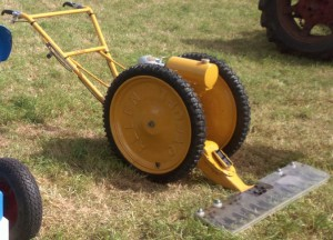 Allen Scythe fitted with a Villers engine. It is painted yellow because it spent it's working life on an airfield.