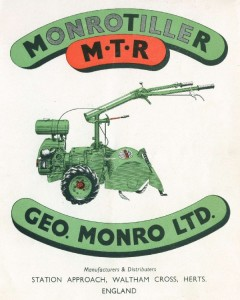 MonroTiller series 1 colour sales leaflet front cover cropped