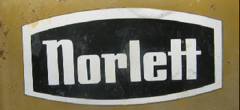 Norlett Logo with White text on a black background