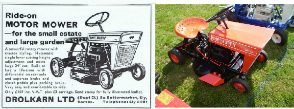 Huffy Mower Tractor Advert