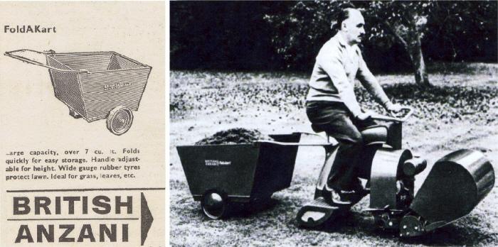British Anzani FoldAKArt advert and photo - £9 9s in 1964 for the FoldAKart