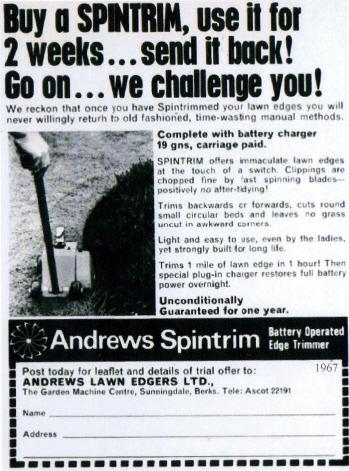 Andrews Spintrim 1967 Advert