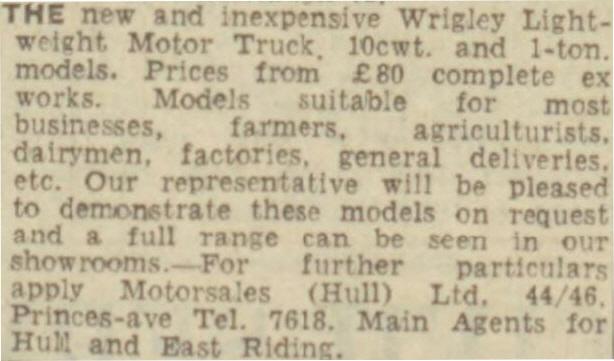 Wrigley Advert 1950
