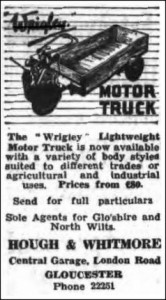 Wrigley Motor Truck 1949