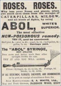 Abol advert and syringe from 1910. Kills most things!