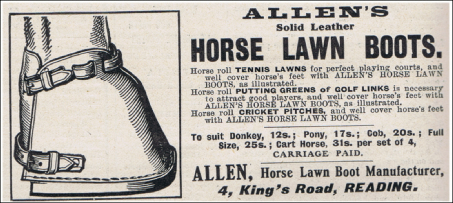 Leather Horse LAwn Boots by Allen of Reading. 1910.