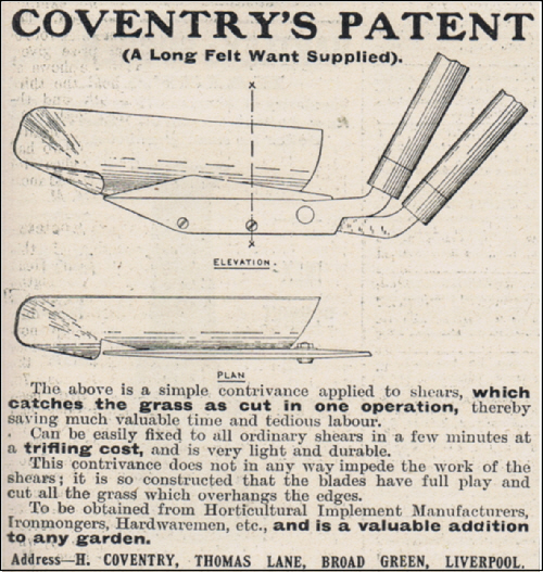 Coventry's patent grass edging shears 1910.